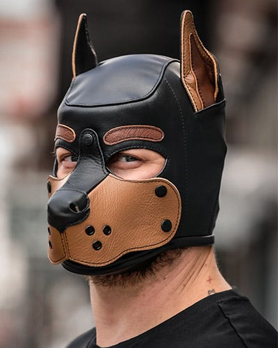 Leather Puppy Hoods