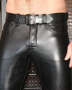 Leather Officer's Belt Smooth