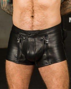 Leather Chastity Shorts