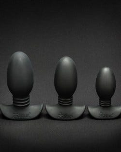 Ribbed Silicone Anal Trainer Kit