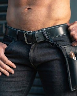 Piped Leather Belt