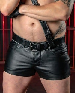 Leather Jean Short