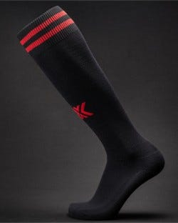 X Soccer Sox Black/Red