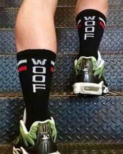 Skater Socks - Woof - Black