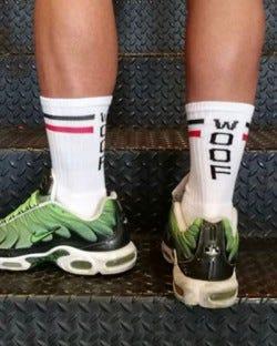 Skater Socks - Woof - White