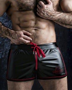 Two Way Zipper Short - Red