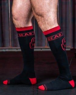 Locker Gear Knee High Socks - Red
