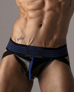 Harder Zipper Jockstrap - Blue