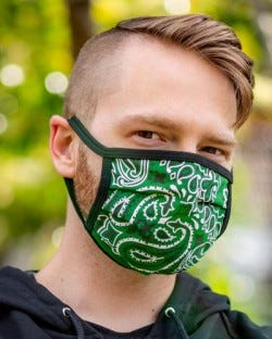 Reversible Hanky Face Mask - Hunter