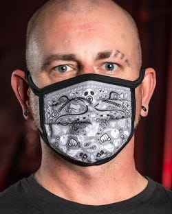 Reversible Kinky Face Mask - Grey