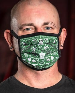 Reversible Kinky Face Mask - Hunter