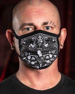 Reversible Kinky Face Mask - Black
