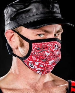 Reversible Kinky Face Mask - Red