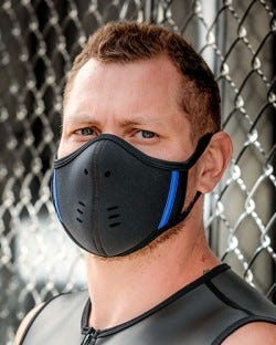 Neoprene Face Mask - Black/Blue