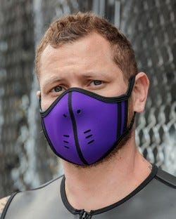 Neoprene Face Mask - Purple/Black