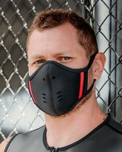 Neoprene Face Mask - Black/Red