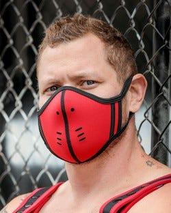 Neoprene Face Mask - Red/Black
