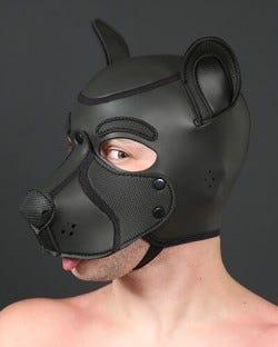 Neoprene Frisky Pup Hood - Black
