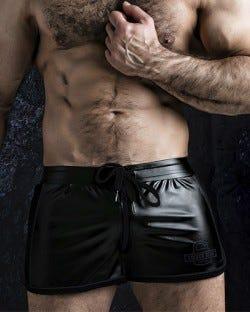 Two Way Zipper Short - Black