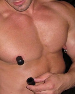 Black Rubber Tit Suckers