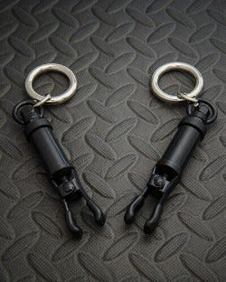 Barrel Tit clamps With Ring - Black