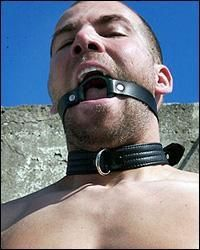 O-Ring Gag with Leather Straps