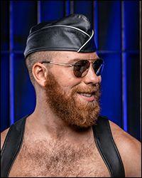 Leather Garrison Cap