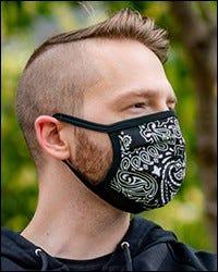 Reversible Hanky Face Mask - Black