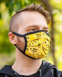 Reversible Hanky Face Mask - Yellow