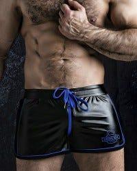 Two Way Zipper Short - Blue